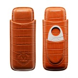 Etui na dwa cygara Myon Paris Leather Brown 1880001