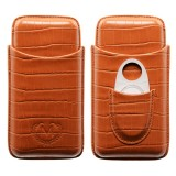 Etui na trzy cygara Myon Paris Leather Brown 1880101