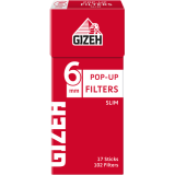 Filtry papierosowe Gizeh Slim Pop-Up
