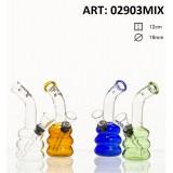 Bongo szklane Amsterdam 12cm 02903MIX
