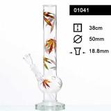 Bongo szklane MED Leaf 38cm 01041