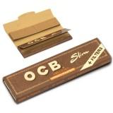 Bibułki OCB Slim Virgin Brown z filtrem