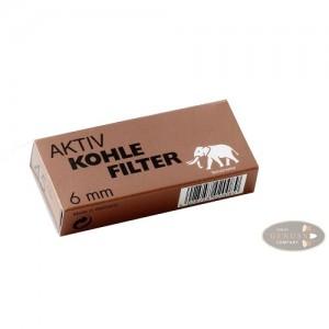 Filtry fajkowe węglowe Aktiv Kohle 6mm