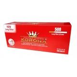 Gilzy papierosowe Korona Long Filter 500szt.