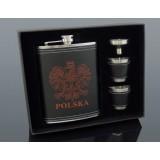 Piersiówka Poland zestaw 6-4222 270ml