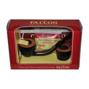 Fajka Falcon wygięta zestaw Czarne Główki