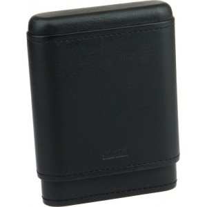 Etui na 5 cygar Adorini Real Leather Black 6914
